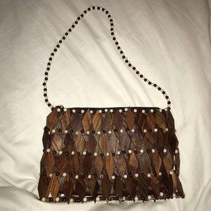 🗯 Unique Vintage Wooden Handbag